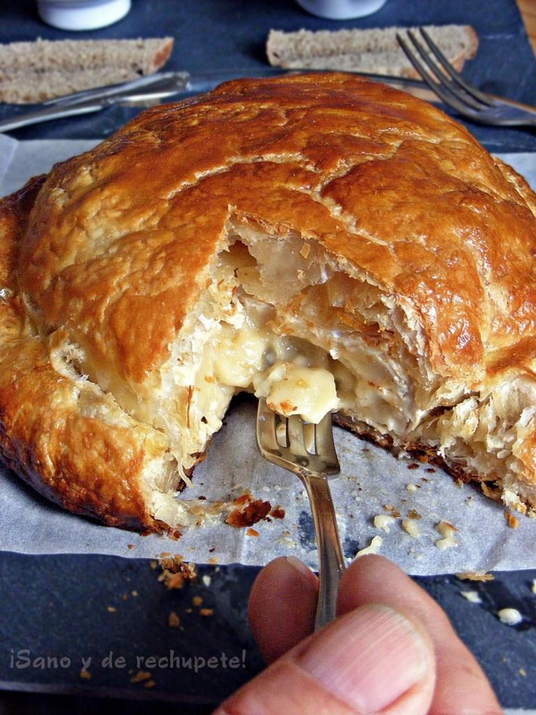 Hojaldre relleno de queso