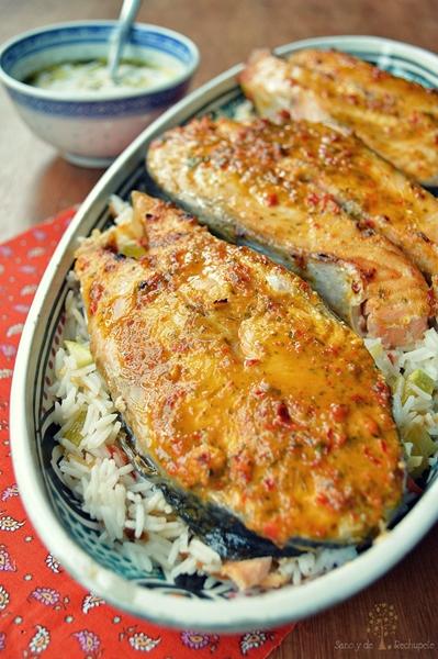 Contra el calor, comidas en 30 minutos a lo Jamie Oliver: salmón al horno en marinada de chile rojo