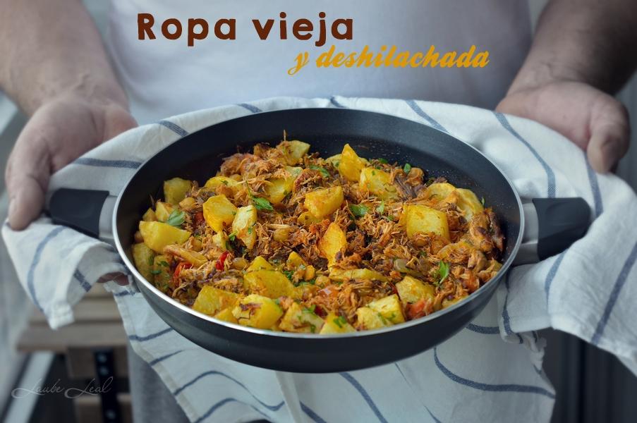 Ropa vieja y deshilachada (cocina de aprovechamiento)