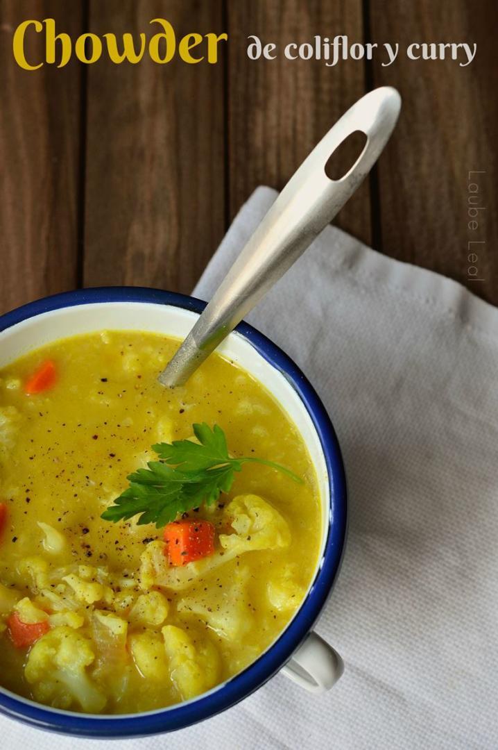 Chowder de coliflor y curry para combatir el frío