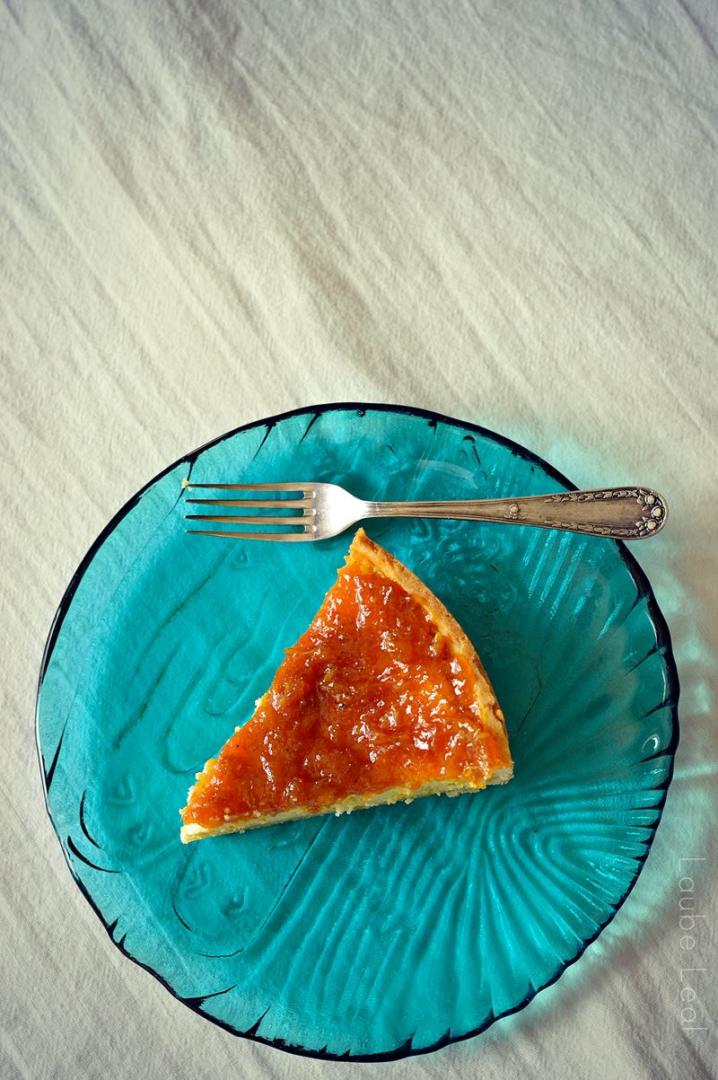 Perfect cheesecake with orange