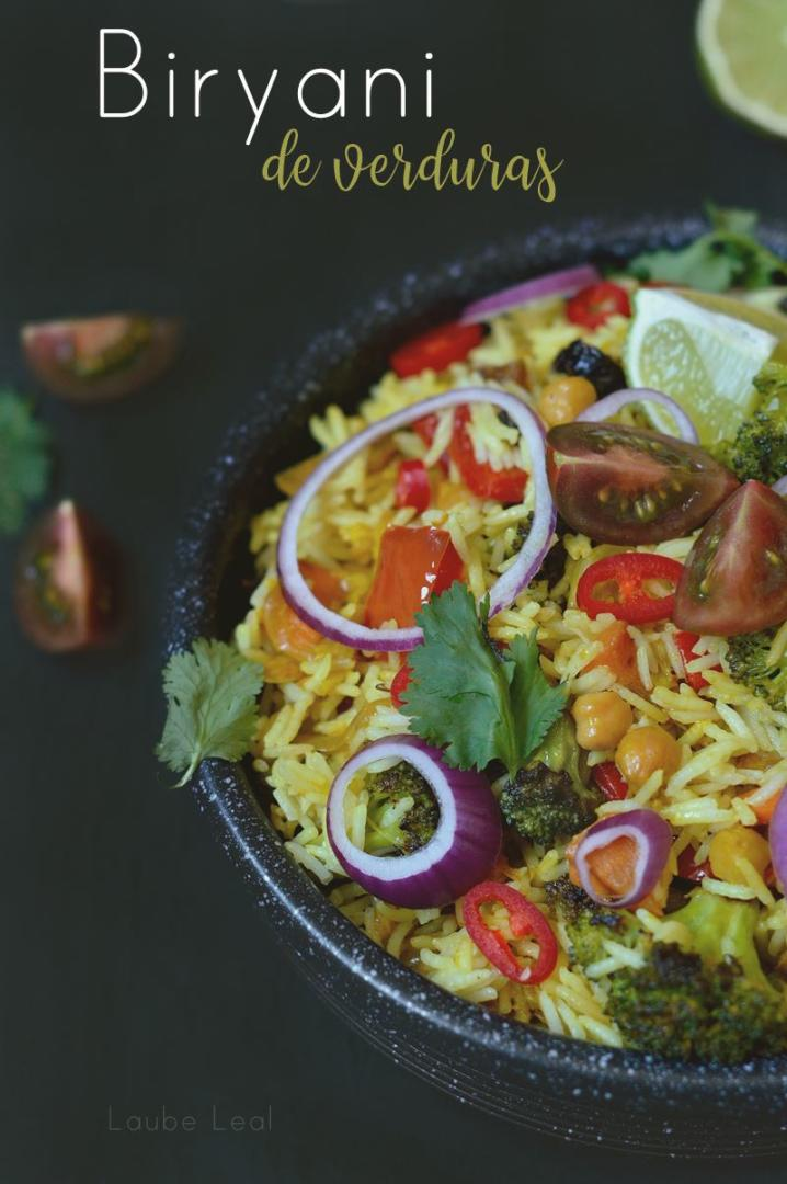 Biryani de verduras (veganísimo)