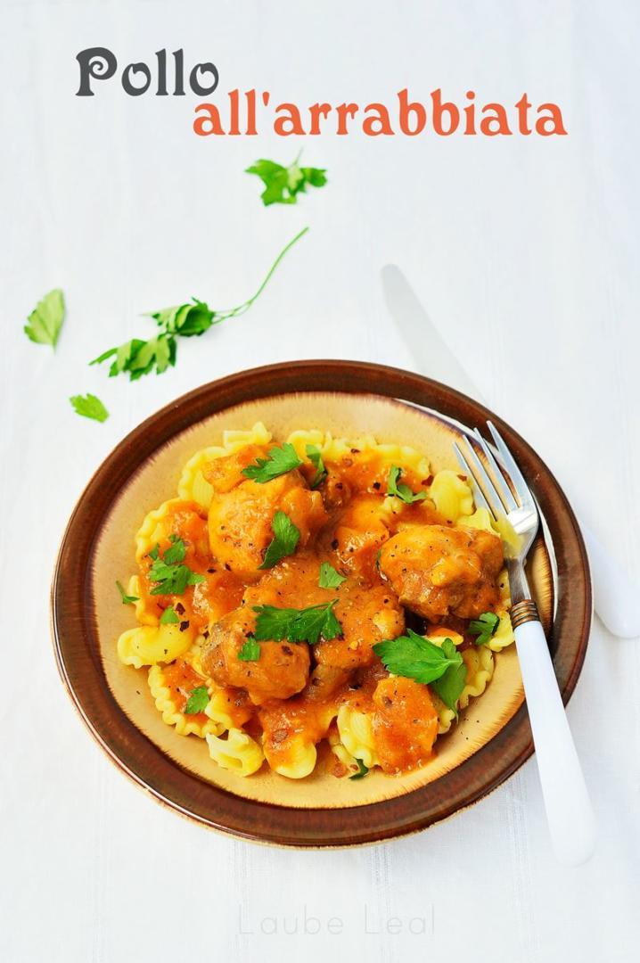 Pollo en una salsa italiana sabrosa y con un toque picante