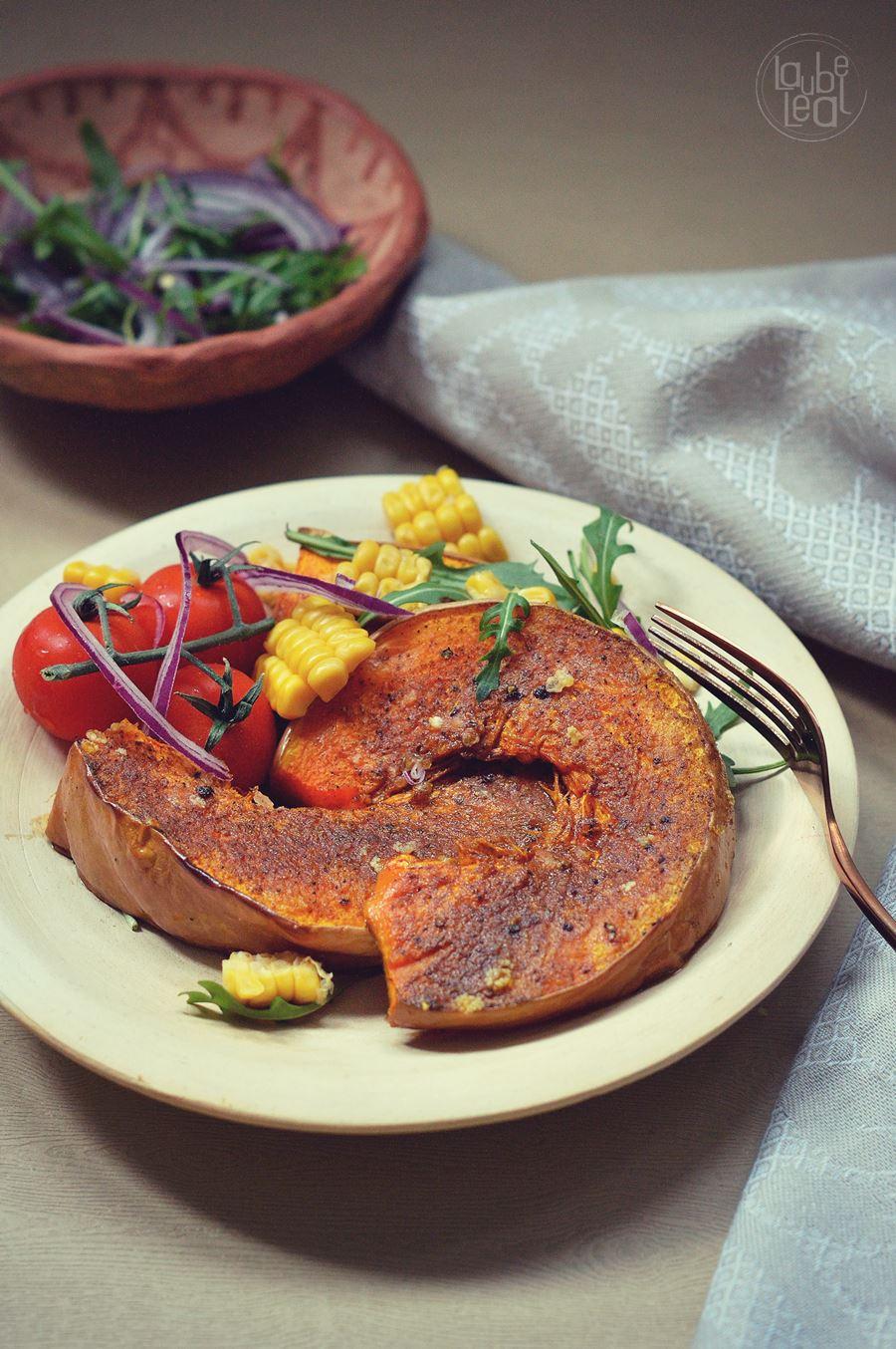 Receta vegetariana: calabaza asada con ras al hanut