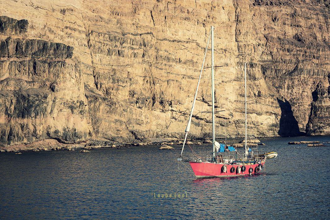 Barco en Agaete