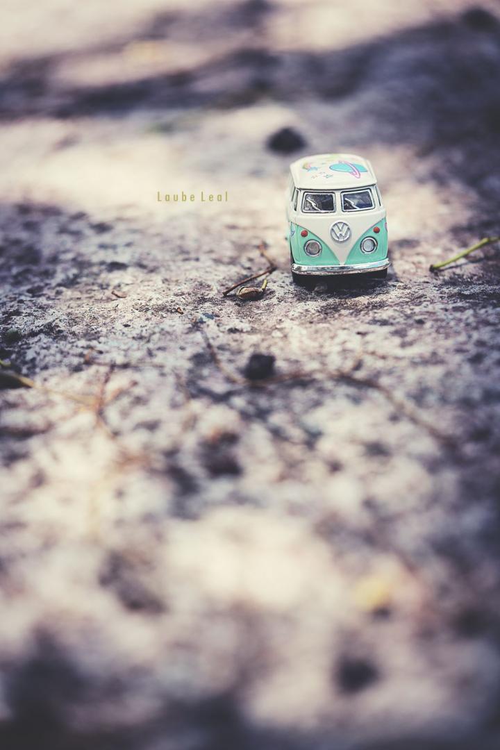 Furgoneta en miniatura