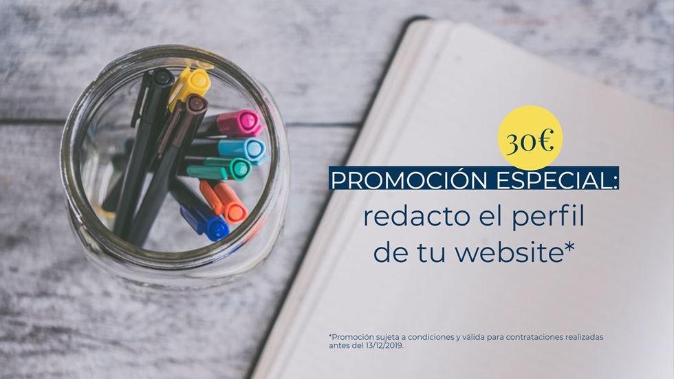 Promoción especial: redacto el perfil de tu website